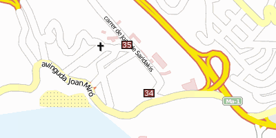 Stadtplan Cala Major